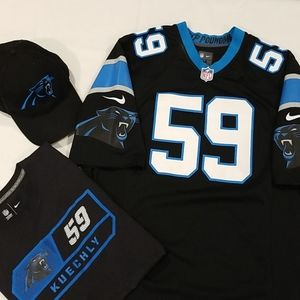 NFLPanthers #59 Kuechly pkg (Jersey, hat & tshirt)